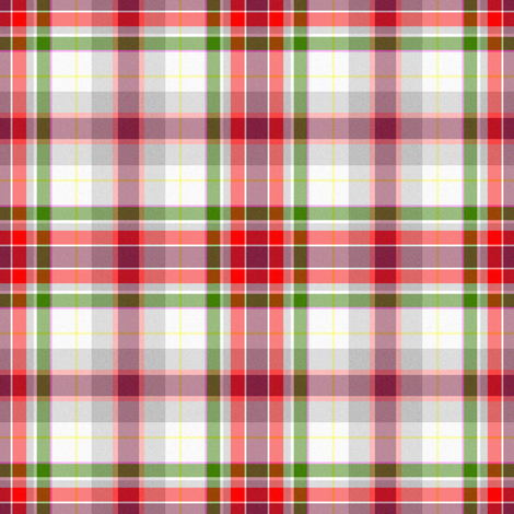 Rose in Snow Plaid fabric by eclectic_house on Spoonflower - custom fabric