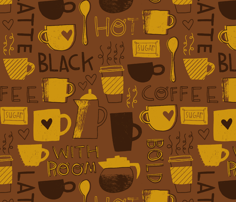 coffee_pattern2 fabric by smalltalk on Spoonflower - custom fabric