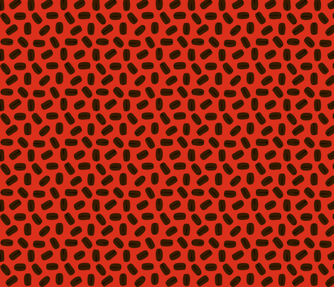 COFFEE_BEANS__red_ fabric by pavlovais on Spoonflower - custom fabric