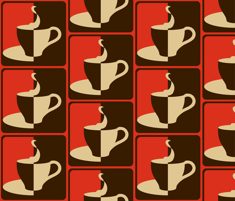 COFFEE_2_WAYS__red_ fabric by pavlovais on Spoonflower - custom fabric