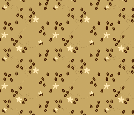 Coffee Buzz fabric by jenimp on Spoonflower - custom fabric