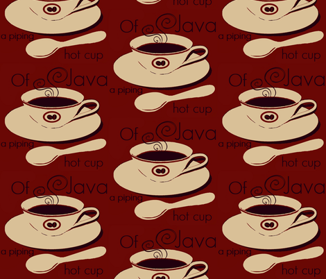 a piping hot cup of java #11 fabric by paragonstudios on Spoonflower - custom fabric