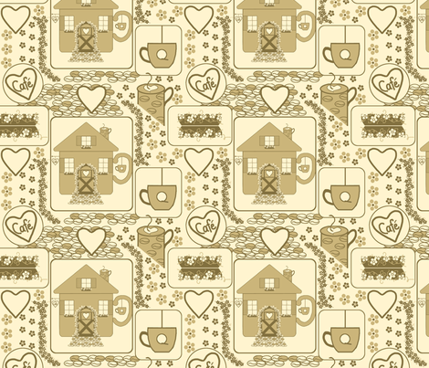 Coffee House Fun fabric by minniemeatdaydreamstudio on Spoonflower - custom fabric