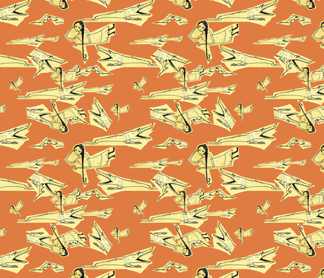 Lana and the Crocodile fabric by rachelbeckman on Spoonflower - custom fabric
