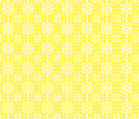Flower Power (Yellow) fabric by mondaland on Spoonflower - custom fabric
