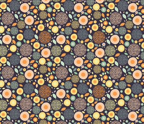 flo (dark) fabric by mondaland on Spoonflower - custom fabric
