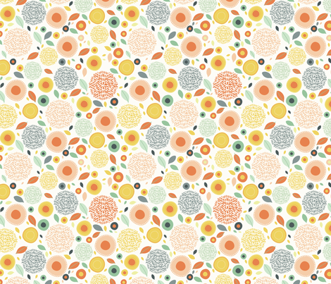 flo (peachy) fabric by mondaland on Spoonflower - custom fabric