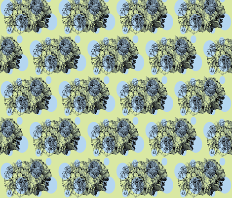 Dotty hydrangea/blue&green fabric by pattyryboltdesigns on Spoonflower - custom fabric