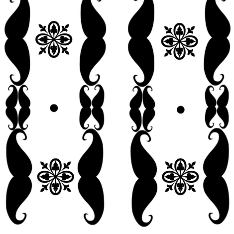 melstache's shape glyph fabric by melstache on Spoonflower - custom fabric
