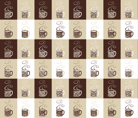 11_Coffee_Granny_Elf fabric by granny_elf on Spoonflower - custom fabric
