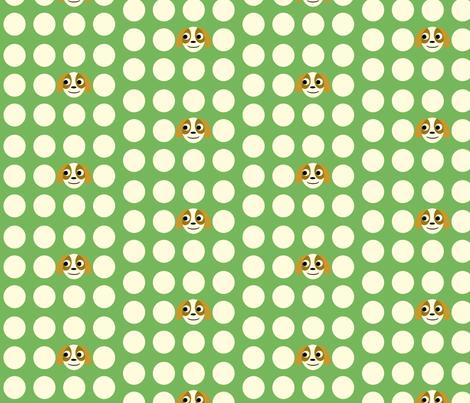 puppies polka dot fabric by heidikenney on Spoonflower - custom fabric