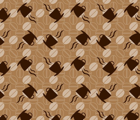 Coffee fabric by martinaness on Spoonflower - custom fabric