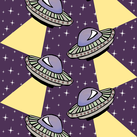UFO Light Show fabric by pond_ripple on Spoonflower - custom fabric
