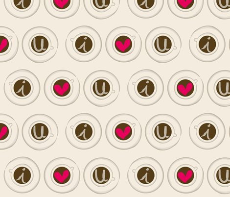 Espresso-luv-shots fabric by majobv on Spoonflower - custom fabric