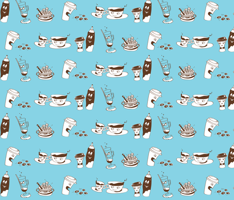 Coffee Commotion fabric by yooliadesign on Spoonflower - custom fabric