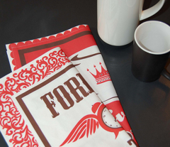 Forever Coffee tea towel