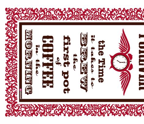Forever Coffee tea towel fabric by minimiel on Spoonflower - custom fabric