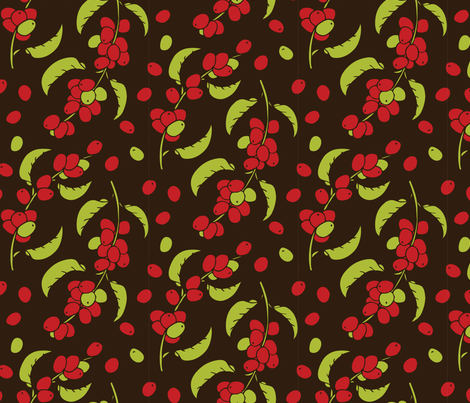 Coffee Berry fabric by noaleco on Spoonflower - custom fabric