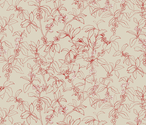 Arabica Cherry fabric by forest&sea on Spoonflower - custom fabric