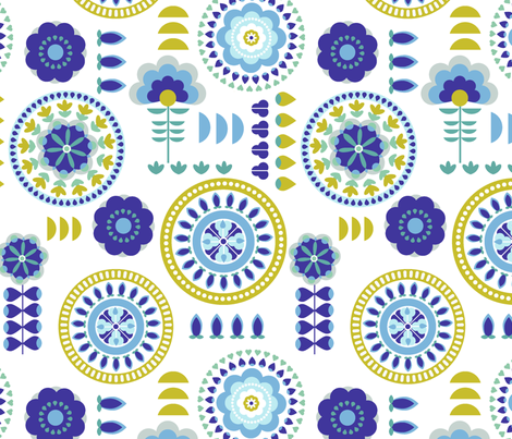 Medallions fabric by chulabird on Spoonflower - custom fabric