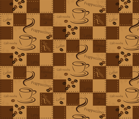 coffee fabric by jbhorsewriter7 on Spoonflower - custom fabric