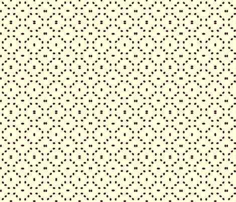 Coffee bean diamonds on cream fabric by victorialasher on Spoonflower - custom fabric