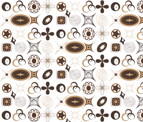 Geometric Coffee Colors fabric by wandering_philosopher on Spoonflower - custom fabric