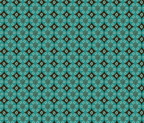 Coffeeee!!!!!!!!dark brown and aqua fabric by beebumble on Spoonflower - custom fabric