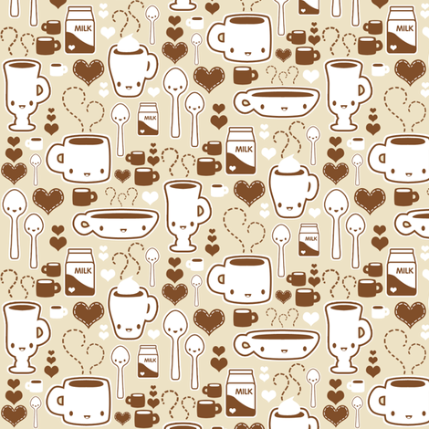 coffee guys fabric by kukubee on Spoonflower - custom fabric