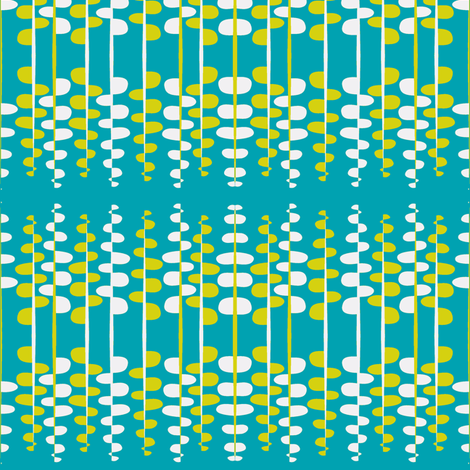 Bumpy Lines in Aqua fabric by wendyg on Spoonflower - custom fabric