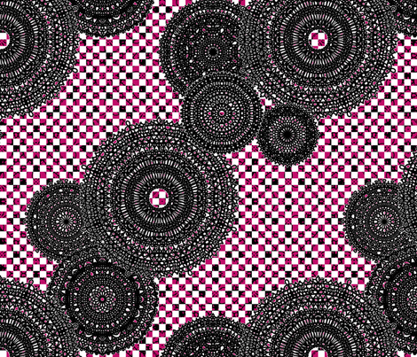 Black Doilies fabric by siya on Spoonflower - custom fabric