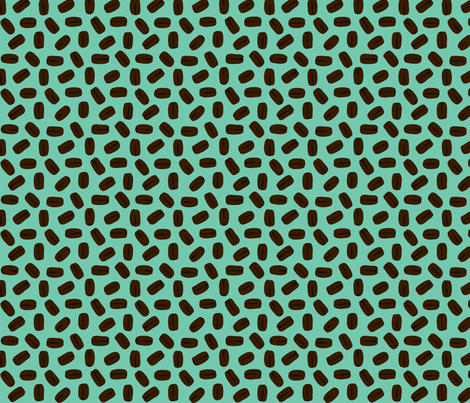COFFEE_BEANS__aqua_ fabric by pavlova_is on Spoonflower - custom fabric