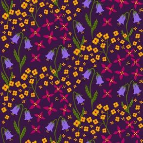 Layred Floral 13c dark half-drop