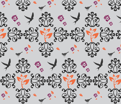 Adorgeous' Fall Fancy fabric by adorgeous on Spoonflower - custom fabric