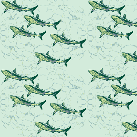 against_the_stream-ch fabric by wednesdaysgirl on Spoonflower - custom fabric