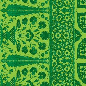 bosporus_tiles green silk crepe de chine