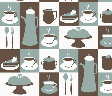 coffee retro fabric by marimia on Spoonflower - custom fabric