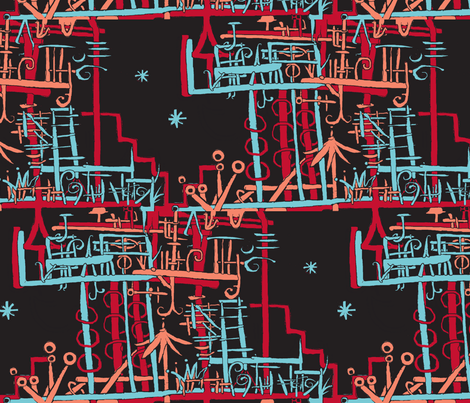 Party Like It's 1999. Long Island Beach House fabric by boris_thumbkin on Spoonflower - custom fabric