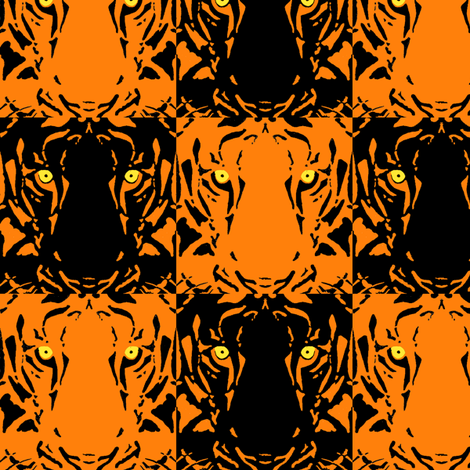Tiger Tiger fabric by topfrog56 on Spoonflower - custom fabric