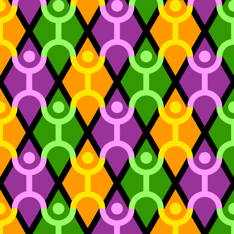 stacking acrobats - mardi gras fabric by sef on Spoonflower - custom fabric