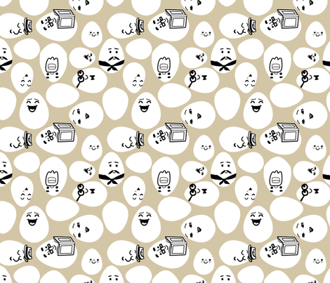 The Eggingtons fabric by lauredesigns on Spoonflower - custom fabric