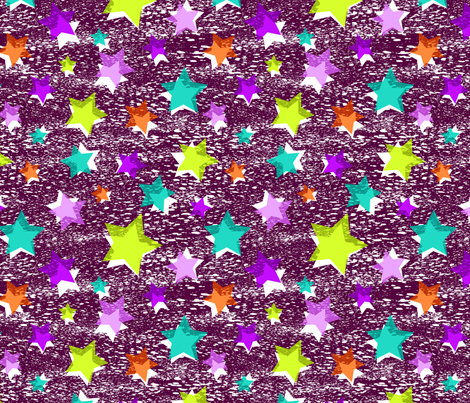 Star Bright -purple fabric by collectivesurfacellc on Spoonflower - custom fabric