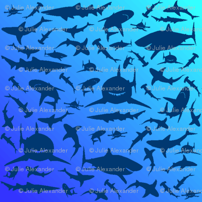 sharkprintblue