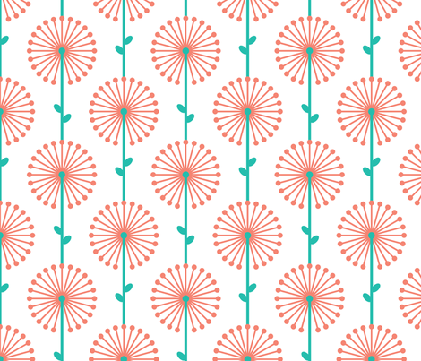 Pink Lehua, Medium fabric by ravenous on Spoonflower - custom fabric