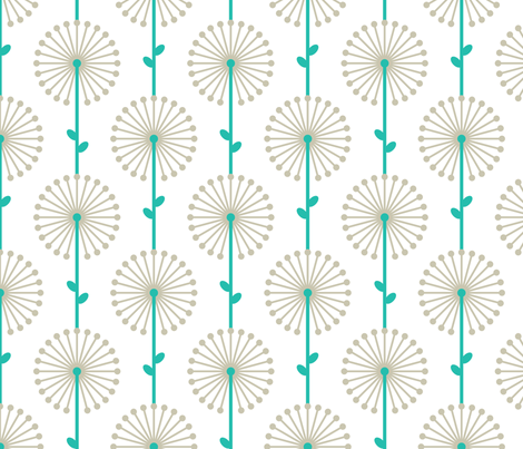 Grey Lehua, Medium fabric by ravenous on Spoonflower - custom fabric
