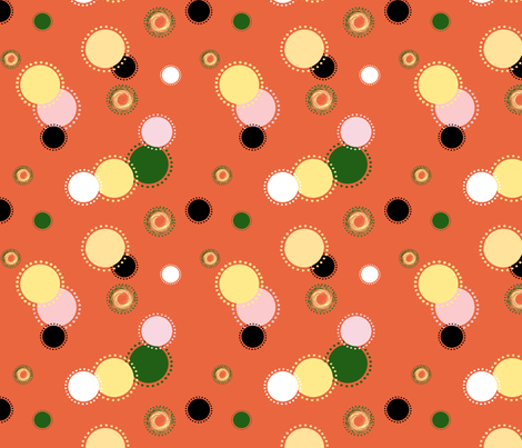 Halloween_Dots fabric by kiniart on Spoonflower - custom fabric