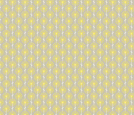 Yellow Lehua, Small fabric by ravenous on Spoonflower - custom fabric