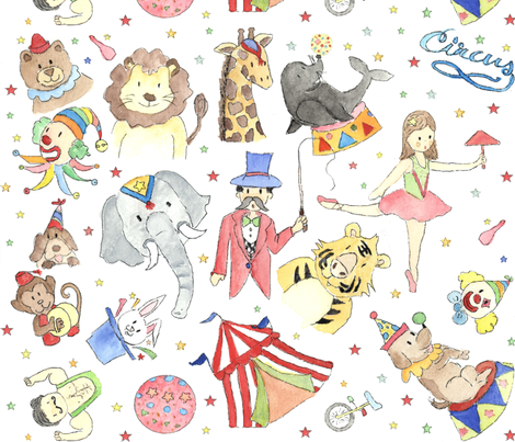 CIRCUS_COLOR fabric by cazorcx on Spoonflower - custom fabric
