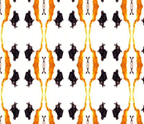 Black Bunny Meets Mr. Giraffe fabric by bluenini on Spoonflower - custom fabric
