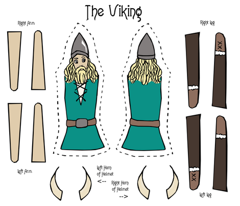 The Viking fabric by pond_ripple on Spoonflower - custom fabric
